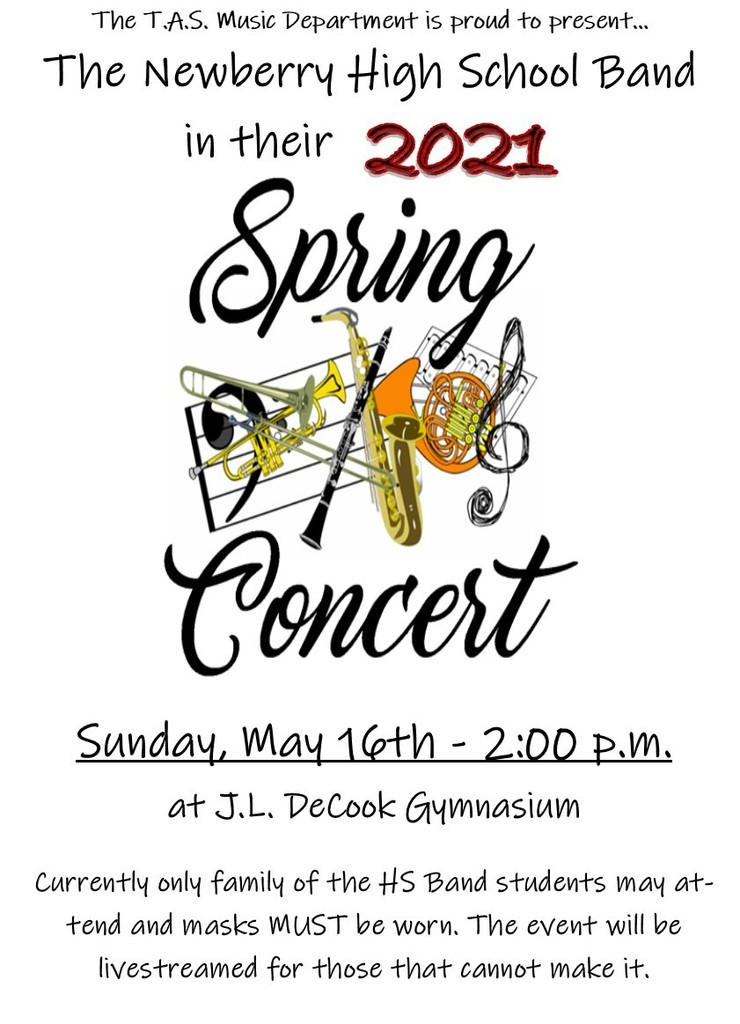 HS Band Concert Poster